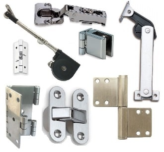 Bolts, hinges and fasteners