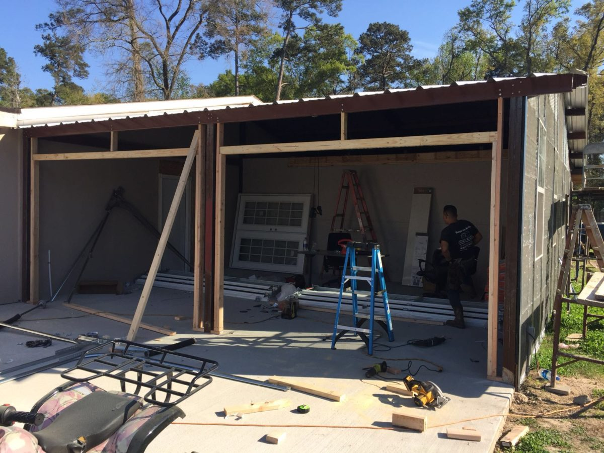 Garage Door Construction Project