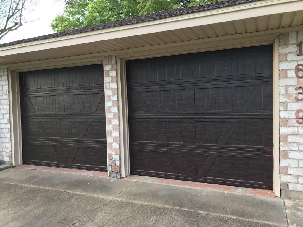 Double wooden Garage Door