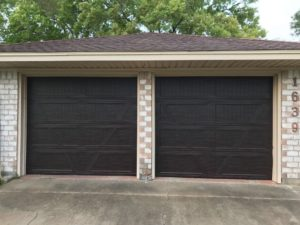 wood looking garage door