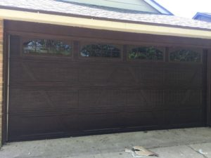 wood looking garage door houston