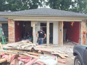 garage door framing & installtion