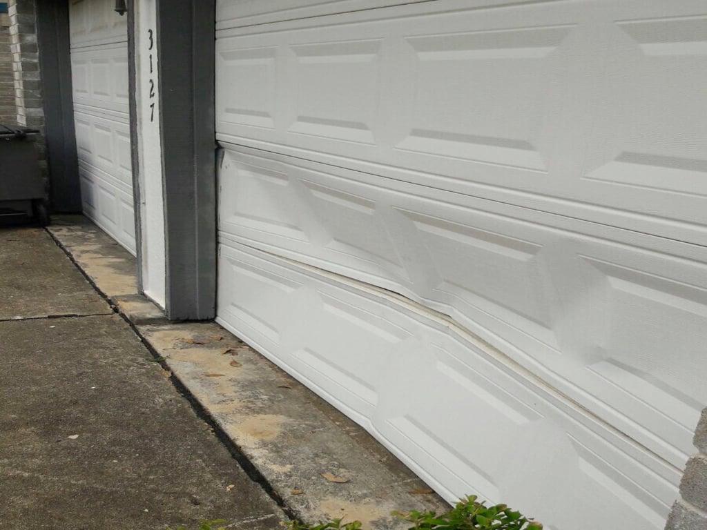 Bent Garage Door Repair