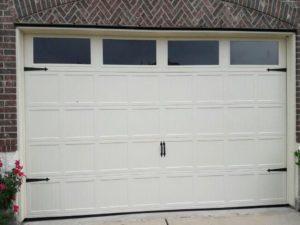 carriage white garage doors
