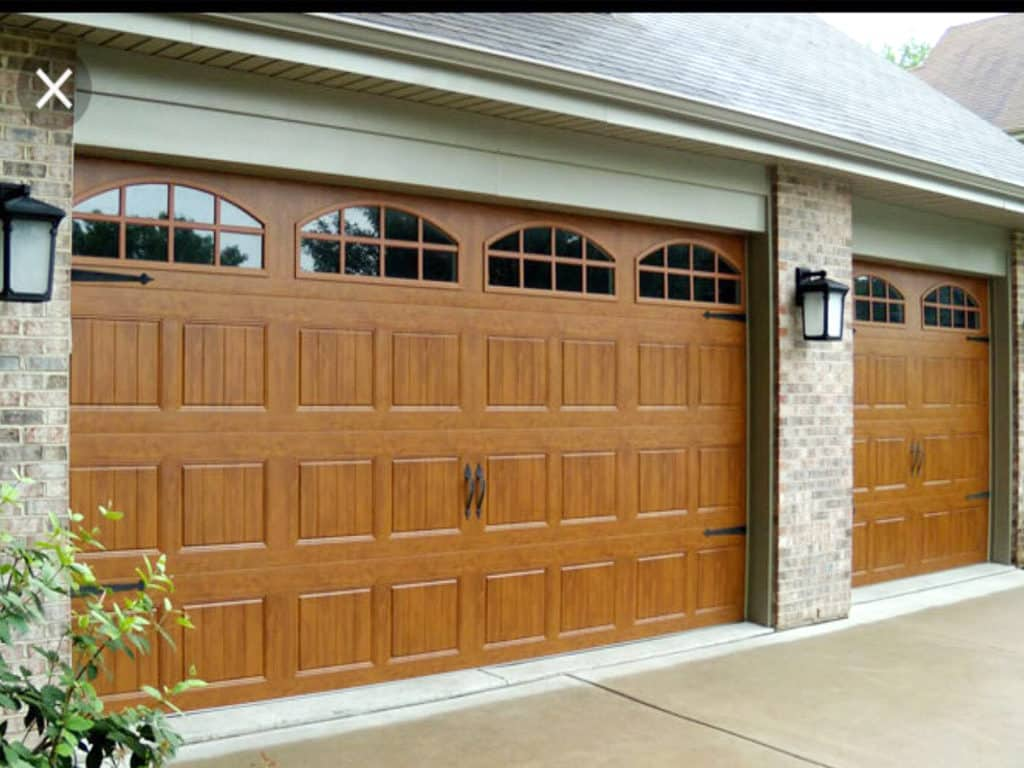 Wooden Double Garage Doors