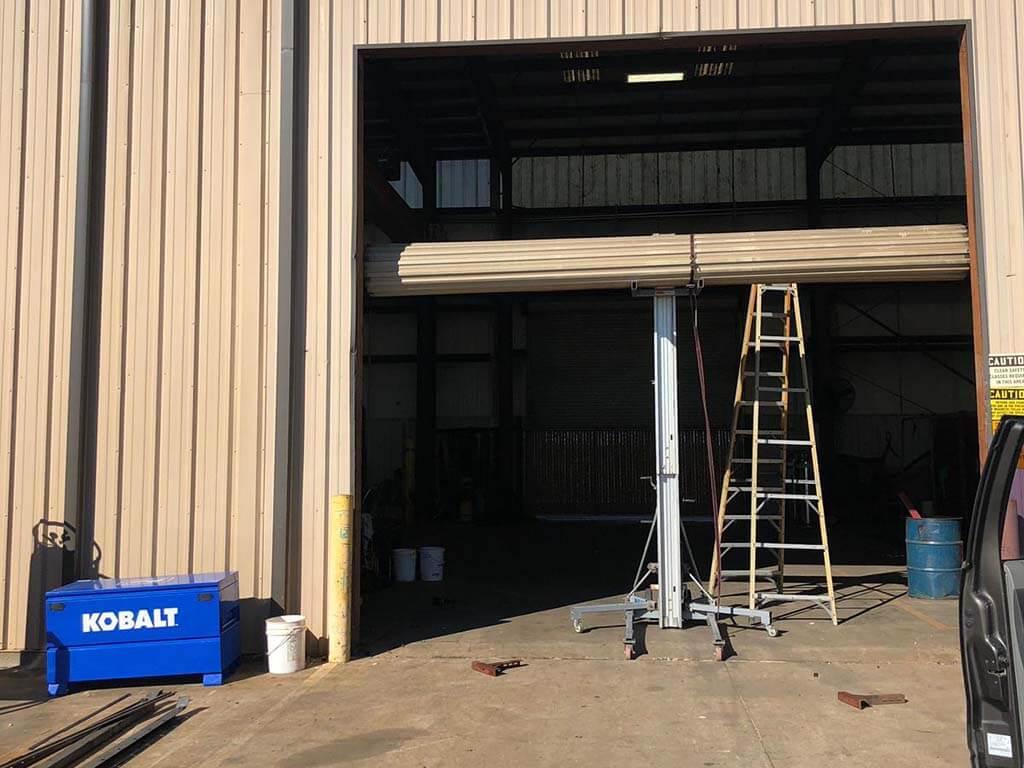 commercial rollup garage door installation houston